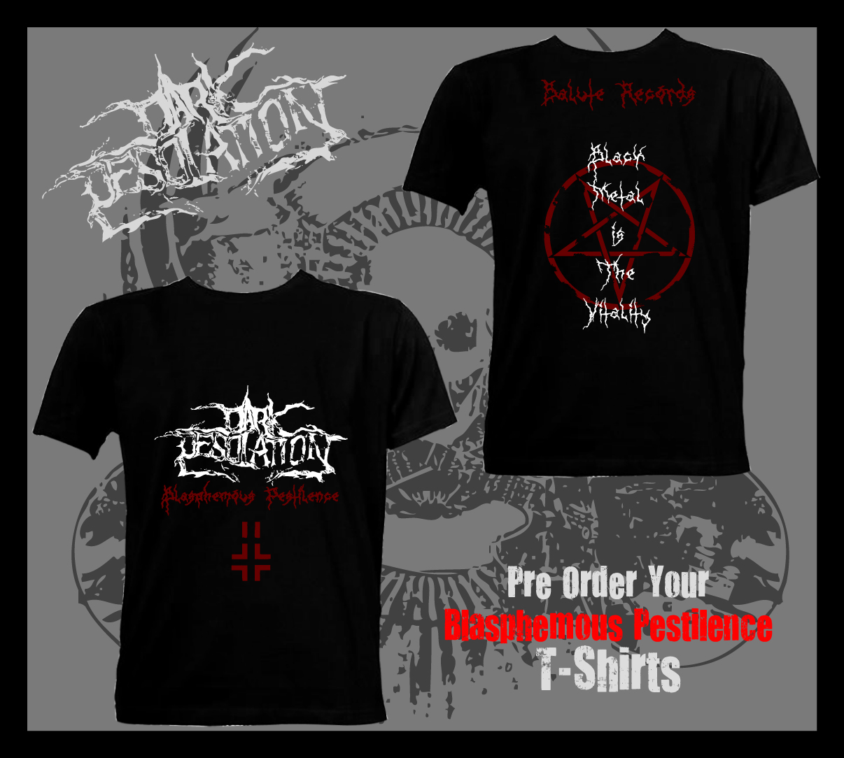 "Bangalore based black metal band ""Dark Desolation"" are releasing their merchandise"