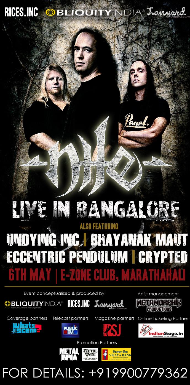 Nile In Bangalore Ticket Giveaway- MetalIndia Magazine