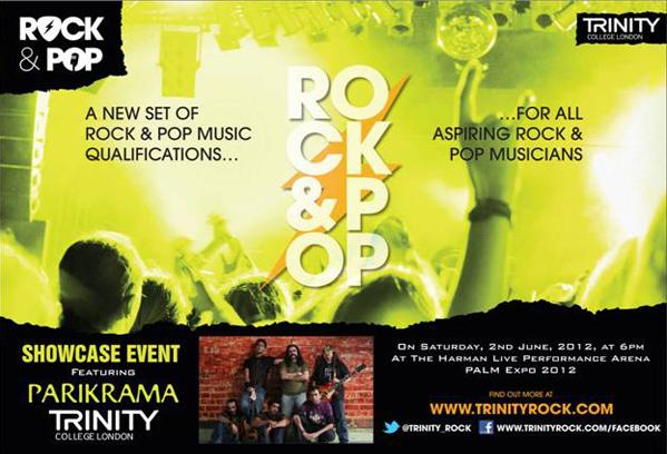 Indian rock band Parikrama endorse new Rock & Pop exams