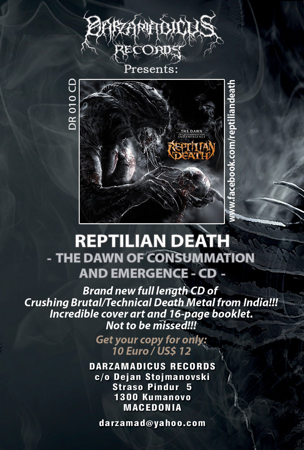 REPTILIAN DEATH SIGNS TO DARZAMADICUS RECORDS