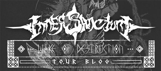 Inner Sanctum released a series of tour blog episodes